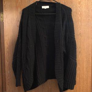Thick black cardigan